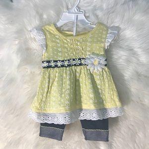 2 Piece Set Baby Girl Clothes Sz 6-9